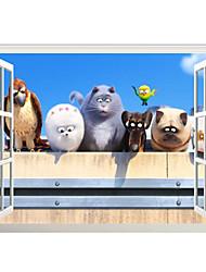 Animais / Natal / 3D Wall Stickers Autocolantes de Aviões para Parede / Autocolantes 3D para Parede Autocolantes de Parede Decorativos,PVC