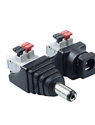 5Pair 2.1 x 5.5mm DC Power Male+Female Plug Jack Adapter Connector Plug for LED Strip Light