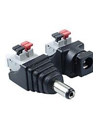 5pair 2.1 x 5.5mm alimentation en courant continu mâle + jack prise connecteur d'adaptateur femelle pour bande LED