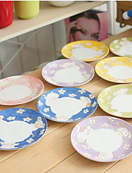 Chinese Zodiac Plate Tableware Suit Color Random