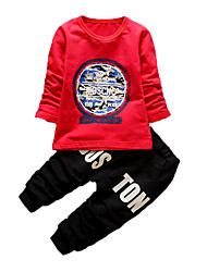 Boy's Casual/Daily Print Clothing SetCotton Fall Blue / Red / White