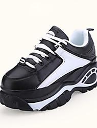 Da donna-Sneakers-Casual-Comoda-Piatto-PU (Poliuretano)-Nero Grigio