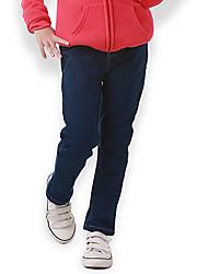 Girl's Cotton Spring/Autumn Fashion Solid Color Children Jeans