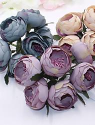 1 1 Ramo Plástico Camélia Flor de Mesa Flores artificiais 4.3inch/11cm