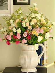 1 1 Ramo Plástico Lilás Flor de Mesa Flores artificiais 13.7inch/35cm