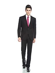 Costume(Noir,Viscose / Laine et polyester / Polyester / Rayon (T / R),2 Pièces)Coupe Sur-Mesure