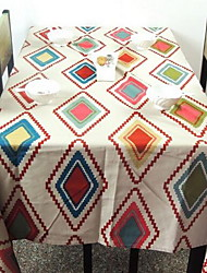 New American Country Retro Rectangular Side Table Cloth Tablecloths (140 * 140cm)