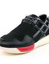 Da donna-Sneakers-Sportivo-Ballerine-Piatto-Tulle-Nero / Argento / Dorato