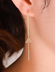 Brinco Triangular Jóias 1 par Fashion Diário / Casual Liga Feminino Dourado / Prateado