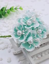 Hi-Q 1Pc Decorative Flower Hand Bouquet  Small Tea Plum Wedding Home Table Decoration Artificial Flowers