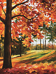 JAMMORY 3D Wallpaper For Home Contemporary Wall Covering Canvas Material Painting Maple Leaf3XL(14'7''*9'2'')