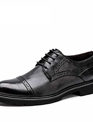Men's shoes Aokang 2016 New system genuine leather carve patterns business suit comfortable soft bottom shoes