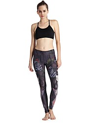MIDUO Women's Compression Yoga Bottoms Black-YD46 035