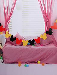 os adereços decorativos nova mickey puxar tag bandeira lahua festa de anos das crianças dia