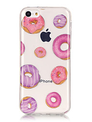 TPU Material + IMD Technology Donuts Pattern Painted Relief Phone Case for iPhone 6s Plus / 6 Plus/SE / 5s / 5/5C