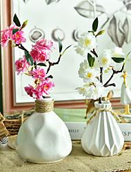 1pc 1 Une succursale Polyester / Plastique Cerisier du Japon Fleur de Table Fleurs artificielles 15.7inch/40CM