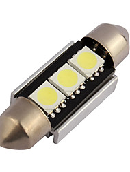10pcs CANbus 3SMD 5050 лицензия 36мм пластинчатые огни гирлянда для салона автомобиля водить автомобиль лампа свет купола (DC12V)