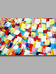 "Stretched (Ready to hang) Hand-Painted Oil Painting 36""x24"" Canvas Wall Art Modern Abstract Red Blue Yellow"