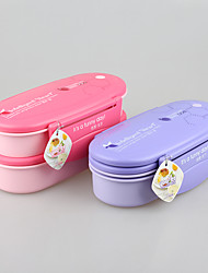 Yooyee BPA Free Double-Deck Bento Food Container with Cutlery