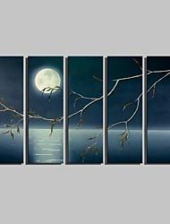 Paisagem Impressão em tela 5 Painéis Pronto para pendurar , Vertical