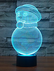 1PC  Touch 3 D  LED Colorful Vision Lamp Gift Atmosphere Desk Lamp  Change Color Night Light