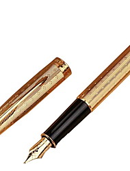 Gold Clip Fountain Pen Business Pen Golden Pen Upscale Gift Pen (Random Color)
