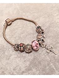 Armbänder Strang-Armbänder Krystall Kreisform Modisch Schmuck Geschenk Rosa,1 Stück