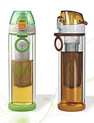 bicamada de vidro de alta temperatura esportes caneca do curso resistência copo de 380ml