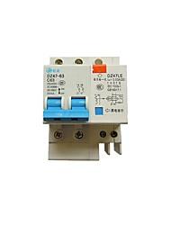 2p 63a interruptor do ar, com disjuntor de fuga