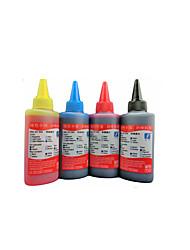 compatible avec hp 802 encre, un paquet de 4boxes, box chaque différentes couleurs, noir, rouge, jaune, bleu
