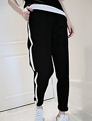 Women's Solid Black Chinos Pants,Street chic