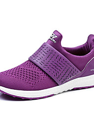 Women's Sneakers Spring / Summer / Fall Comfort Tulle Athletic Flat Heel Hook & Loop Black / Pink / Purple / Red Sneaker