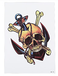 1pc Sexy Special Skull Bone Anchor Pattern Temporary Tattoo Sticker Body Arm Back Art Makeup HB-175