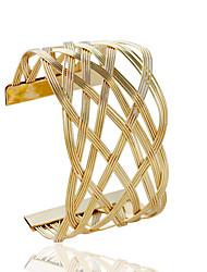 Damen Manschetten-Armbänder Modisch Aleación Rohrform Silber Golden Schmuck Für 1 Stück
