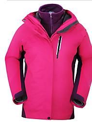 Trilha Blusas Mulheres Impermeável / Respirável / Isolado / Á Prova-de-Chuva / Mantenha Quente Outono / Inverno Terylene Roxo / Azul Lago