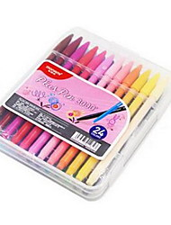24-Color Fiber Pens Color Gel Pens Water Pens Hook Line Watercolor Pens For Student
