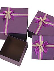 usine spécialisée boîte de cadeau de qualité directe de papier de carton de couleur arc ensembles-cadeaux carrés