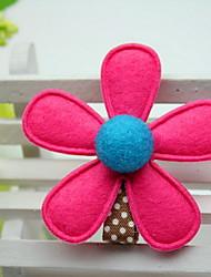 fleur de tissu couleur aléatoire pince à cheveux de fleur de fille de femmes