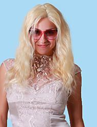 100% de cheveux vierges humain 10-26 pouces 613 # bleach onduleux naturel blond u ou v partie avant de dentelle perruque avec des cheveux