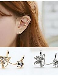 Cute Bird Rhinestone Alloy Clip-On Clip Earrings 1 pair