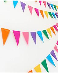 Acessórios do partido Acessório para Fantasia Aniversário Tema Clássico Other Não-Personalizado Papel de Cartão Multicolorido