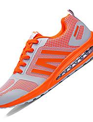 Herren-Sneaker-Lässig-PU-Flacher Absatz-Komfort-Blau / Grün / Orange