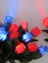 1PC Led Christmas Present Valentine Upholstery Rose Night Light