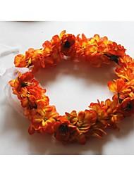 Women's Fabric Headpiece-Wedding Wreaths 1 Piece Purple / Orange / Pink / Yellow Flower 54cm