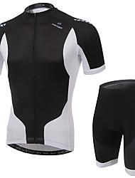 Sportif Maillot et Cuissard de Cyclisme Homme Manches courtes Vélo Respirable / Séchage rapide / Confortable Ensemble de Vêtements/Tenus
