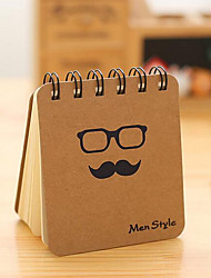 T Dichain Korea Stationery Bronzing Black Beard Coil Notebook Portable Little Book