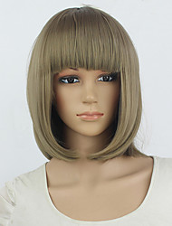 10 Colors Bob Women Short Wigs Black Ladies Synthetic Wigs Women Short Straight Hair Cosplay Wigs Brown RED