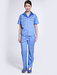Overalls Suit Men's Short-Sleeved Protective Clothing Work Clothes Auto Repair Shop (Sale of Light Blue Suit)