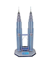 Petronas 3D jigsaw building towers toys made of art paper and EPS foam core