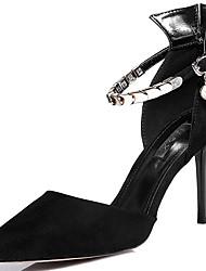 Homme-Mariage / Décontracté / Soirée & Evénement-Noir / Rouge-Talon Aiguille-Talons-Chaussures à Talons-Fourrure